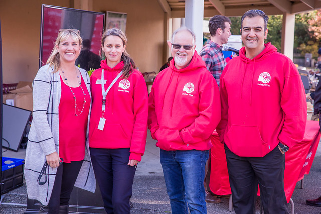 United Way kick off BBQ at Lansdowne campus with the campaign team