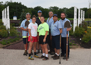 Thu, 06/27/2019 - 09:40 - GCC Grounds Crew: Left to right: Dennis Pietrzykowski, Mikala Bush, Jeff Engle, Kennedy Lampart, Ben Bakos, Ricky Bezon and John Kingdollar