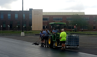 Tue, 06/25/2019 - 08:46 - Resealing the parking lots at Genesee Community College was another important component of the project.
