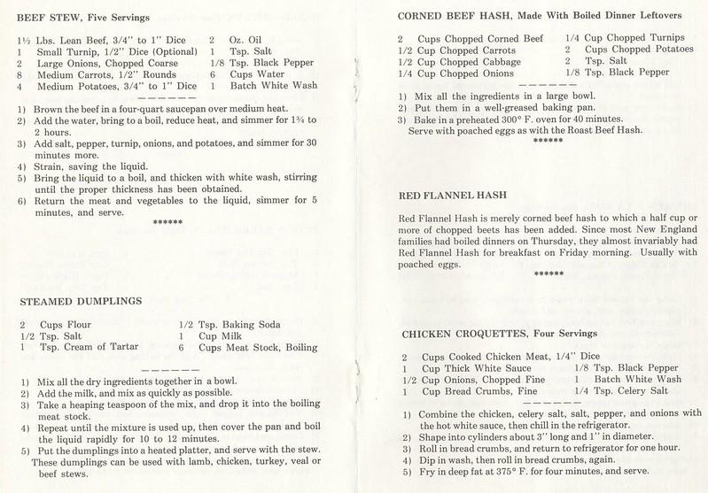New England Recipes 1978