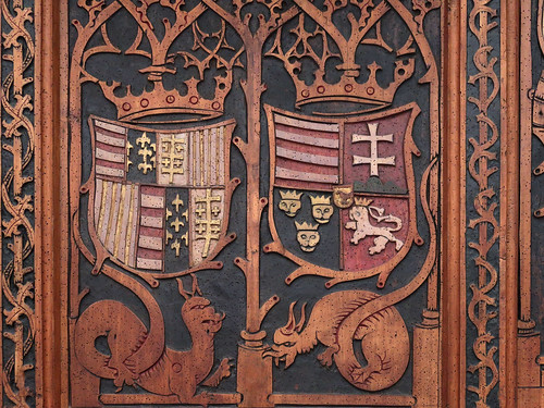 Stall with the coat of arms of Matthias and Beatrix 062c