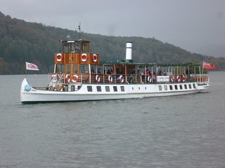 "Windermere Lake Cruises' mv ""Tern"" approaching Bowness Pier."
