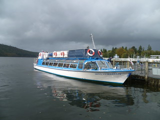 "Windermere Lake Cruises' mv "" Miss Cumbria IV"" at Bowness."
