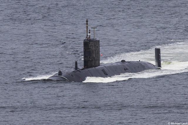 Royal Navy Trafalgar-class nuclear fleet submarine HMS Talent, S92; Firth of Clyde, Scotland