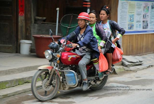 Congjiang, Basha Miao village, local transport