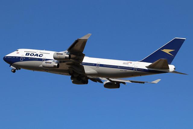 G-BYGC | Boeing 747-436 | British Airways (special BOAC retro livery)