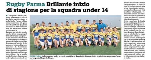 Gazzetta di Parma 09.10.19 - L'under 14 si prepara al campionato