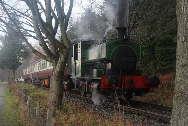 2018-12-30; 0119. Andrew Barclay 0-6-0ST No. 2139 Salmon. Royal Deeside Railway, Milton of Crathes.
