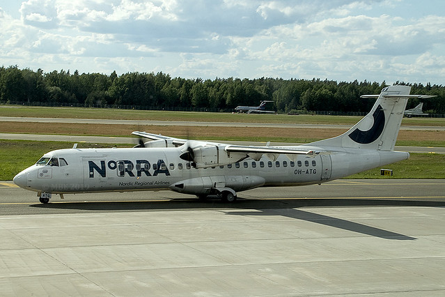 OH-ATG | Nordic Regional Airlines | ATR 72-500 72-212A) | CN 757 | Built 2007 | RIX/EVRA 09/06/2019