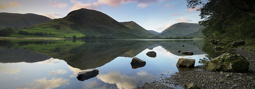 brothers water mountain cumbria lake reflection clouds rock