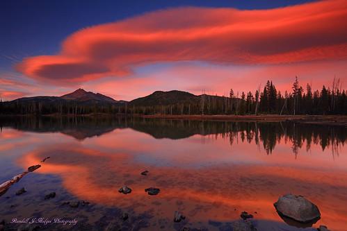 Cazy Cloud at Sunset