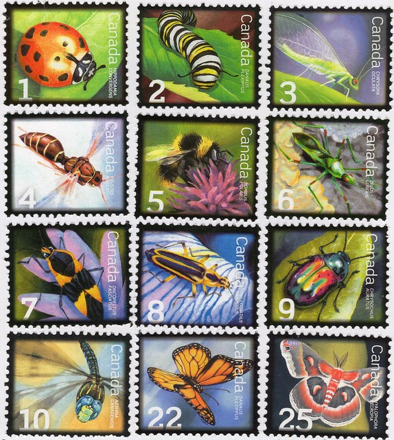 Stamps from Canada.