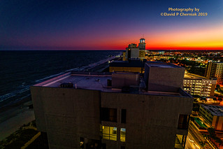 Jaw Dropping Flaming Sunset Balcony Suite 1805 View Ocean 22 by Hilton Grand Vacations - Pier 14 Is In View (3244) Myrtle Beach, SC 9-23-2019.