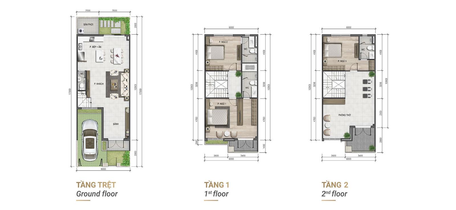 mẫu thiết kế nhà phố căn góc