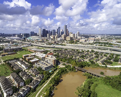 Houston Texas Skyline Over EaDo - September 9, 2019