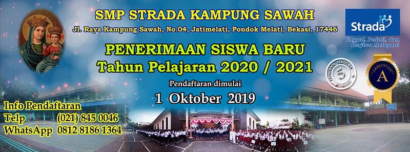 Penerimaan Murid Baru Tahun Pelajaran 2020/2021 SMP Strada Kampung Sawah