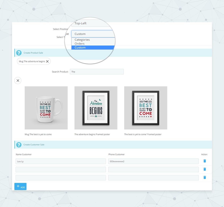 leo popup sale pro prestashop module - show popup sale from Categories, Orders, Customs