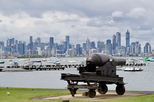 Melbourne skyline from Williamstown | by Joe Lewit