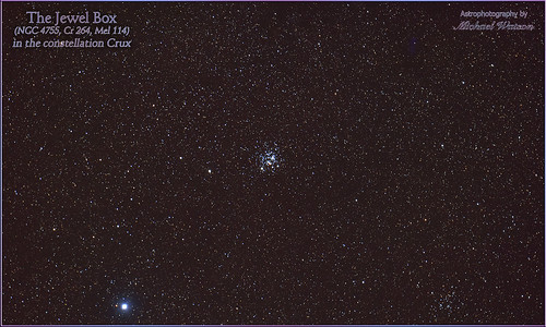 """2019 Sept. 25 ~ The """"Jewel Box"""" in the constellation Crux"""