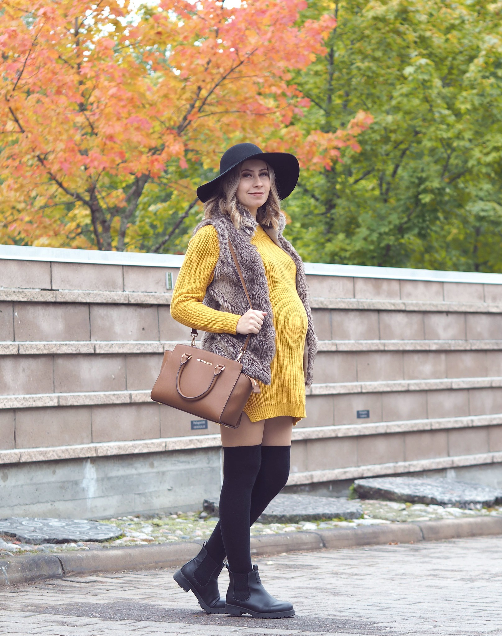 mustard knit dress noisy may
