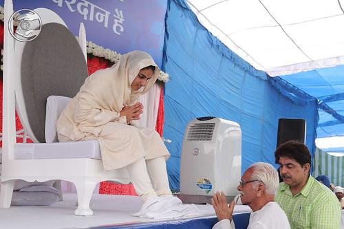 Devotee seeking blessings for welfare