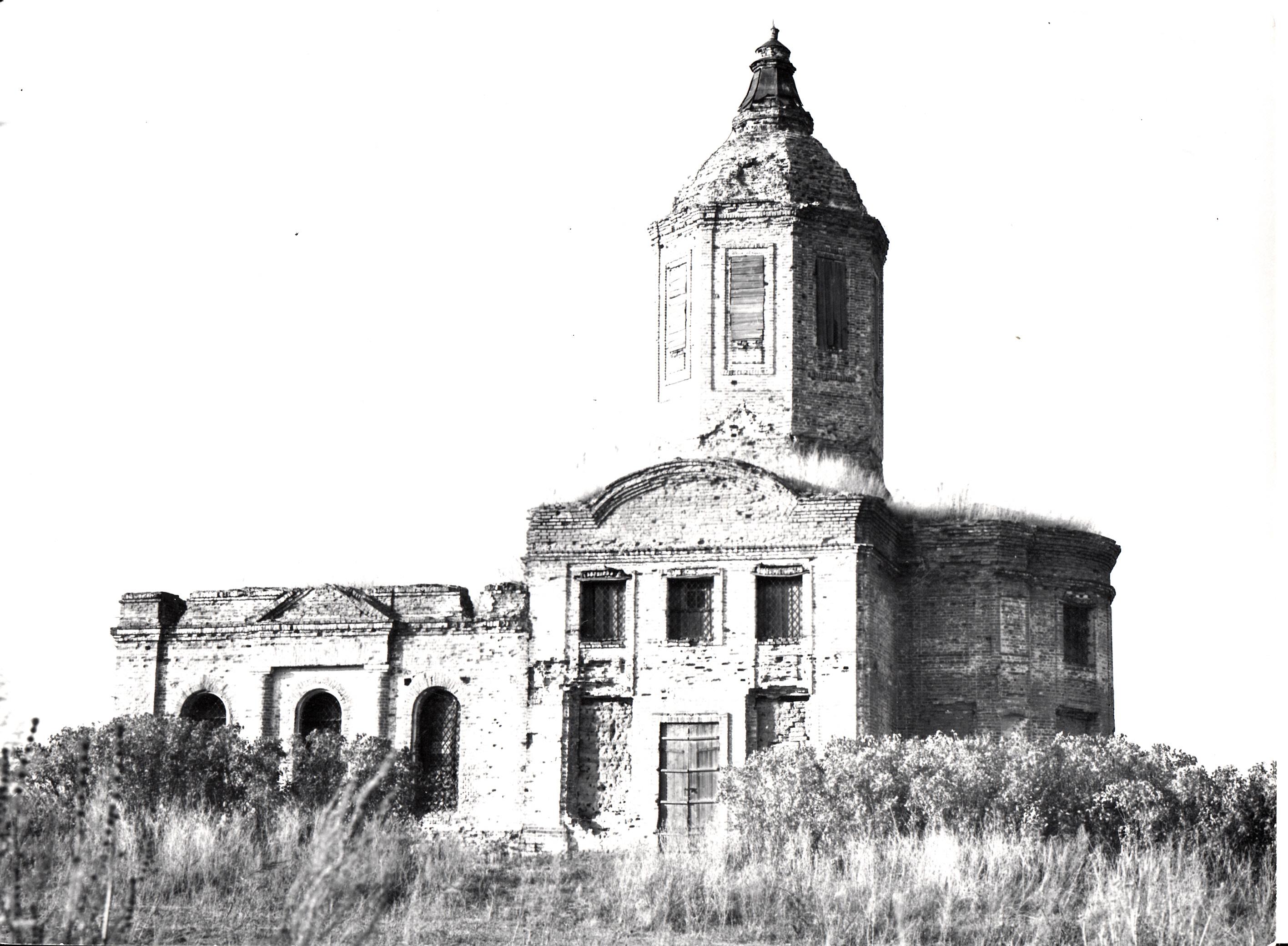 Церковь в  с. Шипово Становлянского района Липецкой области.<br /> 1974 год