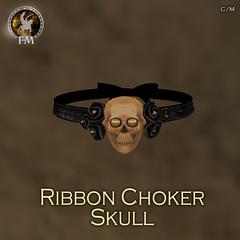 F&M * Ribbon Choker Skull