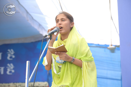 Roshani from Ambala, HR presented a devotional song