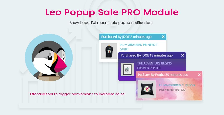 leo popup sale pro prestashop module