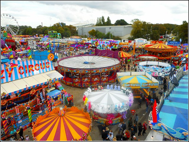 Aerial View of Hull Fair ...