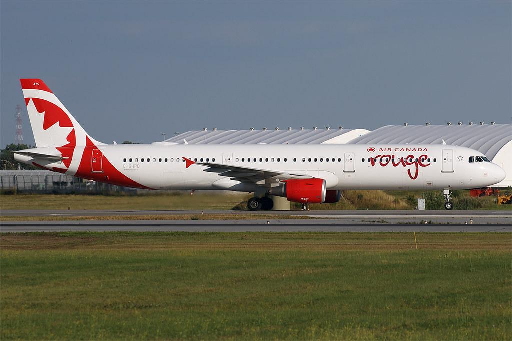 C-GHPD A321 Air Canada Rouge YUL 20190813