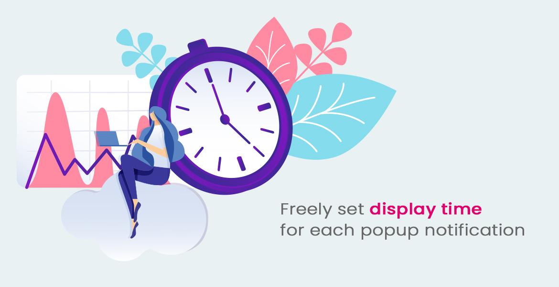 leo popup sale pro prestashop module - set time to display sale notification