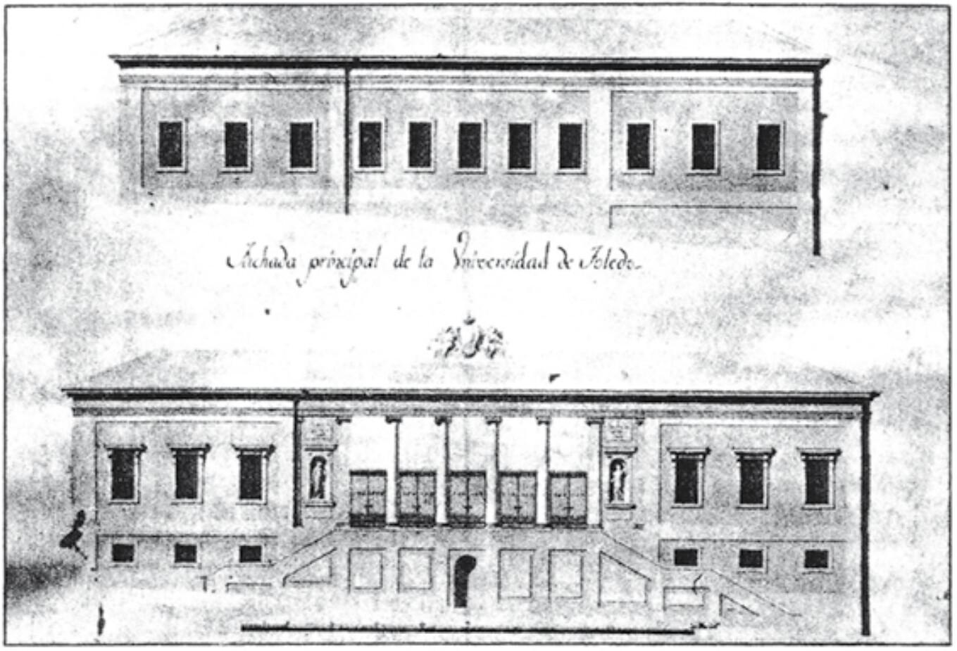 Planos de la Universidad del Cardenal Lorenzana, obra de Ignacio Haan. Archivo Diocesano de Toledo.