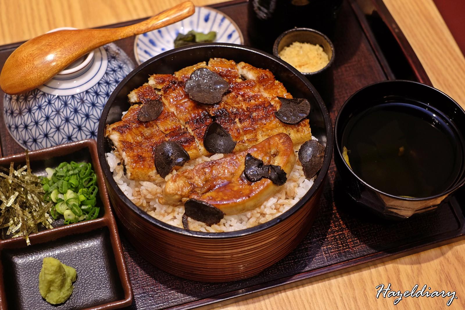 Man Man Unagi Clark Quay-Buttery Charred Foie Gras Hitsumabushi with Black Truffle Flakes
