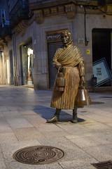 Escultura en Orense (Galicia, España, 9-6-2019)