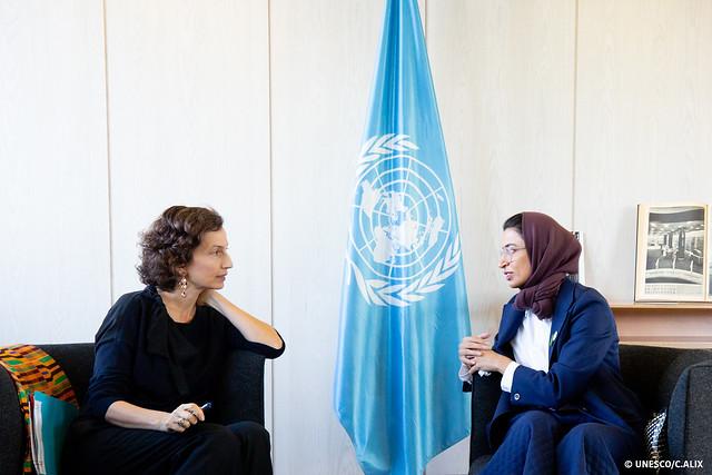 10.10.2019 Entretien avec Noura ALKAABI, Ministre de la Culture des Emirats Arabes Unis