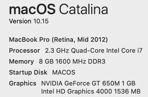 Macbook pro retina 15inch 2012