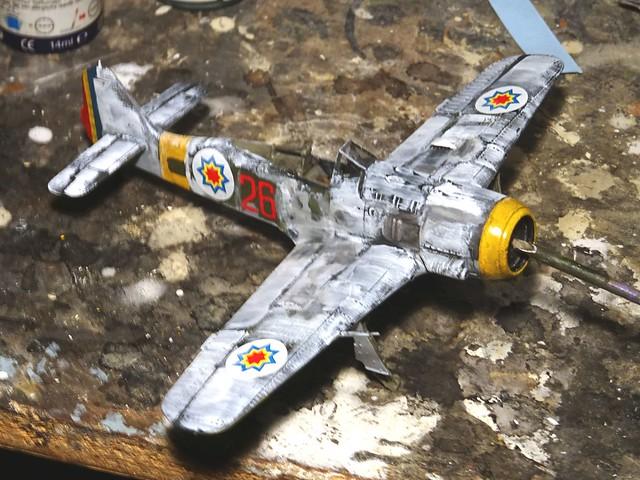 "1:72 Focke Wulf Fw 190 A-6/R1 trop.; ""26 Red"" of the 1st Fighter Squadron, Royal Moldovan Air Force (Королівська авіація Молдови); Krywyj Rih (Кривий Ріг), Oblast Dnipropetrowsk region, Ukraine, February 1943 (Whif/Academy kit) - WiP"