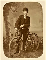 young gentleman with his bicycle ca. 1910