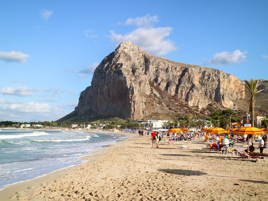 Playa de San Vito lo Capo durante un viaje a Sicilia en 2 semanas