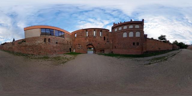 Polen - Toruń, Burganlage 360 Grad