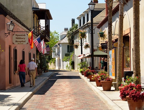 Historic street in St. Augustine, Florida. From  Top 5 Most Overlooked Travel Destinations In The United States