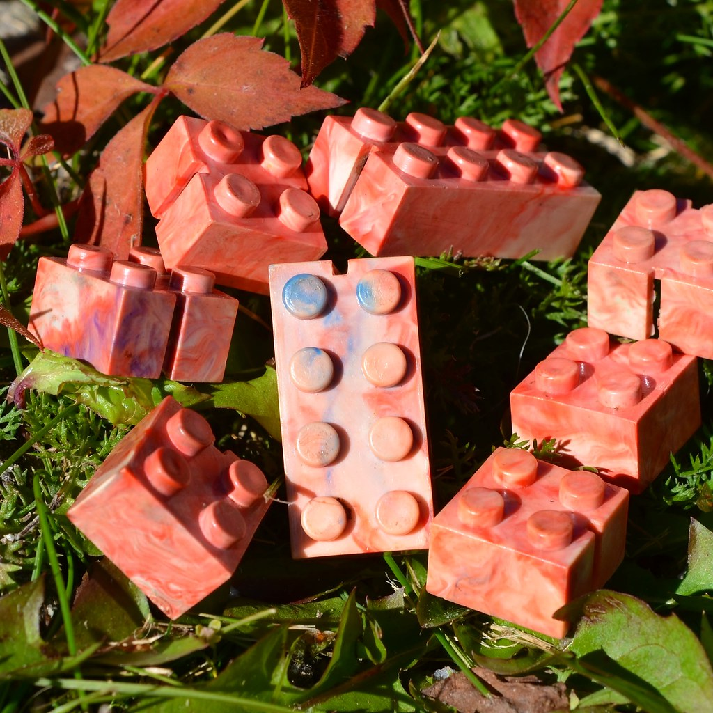 Marbled slotted bricks. :)