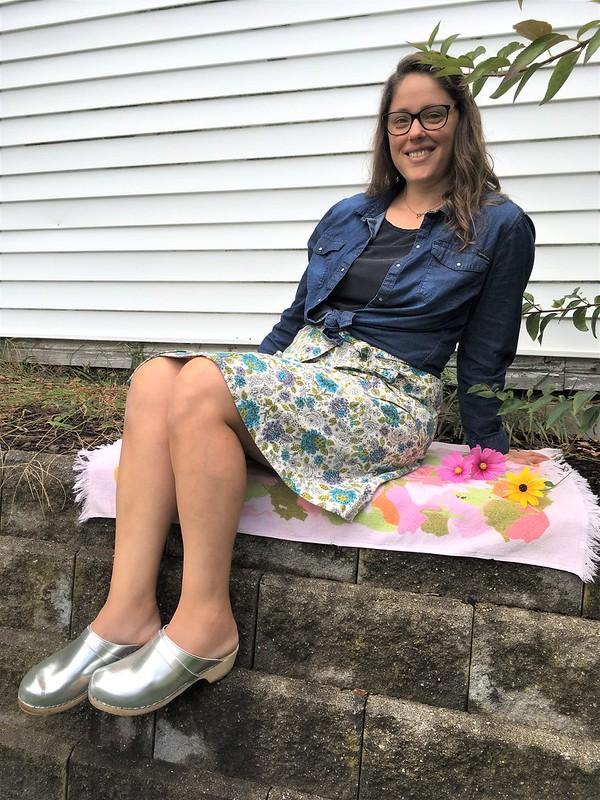 Wrap Skirt in Vintage Fabric:  Burda Style 6375