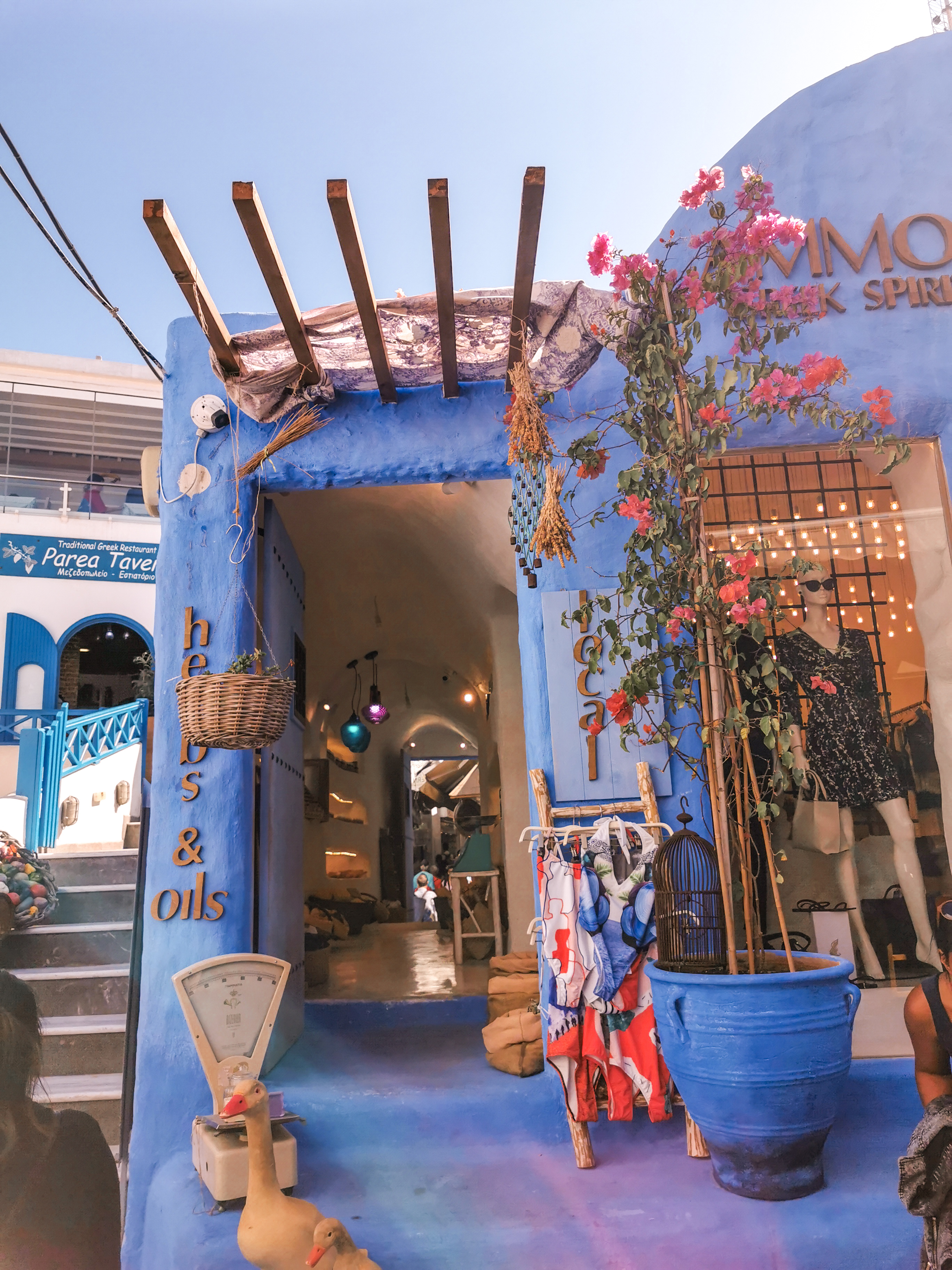 Santorini shops