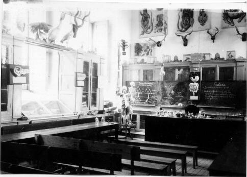Clase de Ciencias Naturales del Instituto Universitario de Toledo del Cardenal Lorenzana. Fondo Rodríguez, Archivo Histórico Provincial, Junta de Comunidades de C-LM, signatura [ALBUM-3-776]