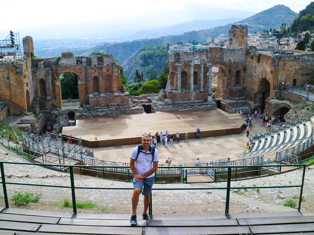 Teatro romano en Taormina Sicilia