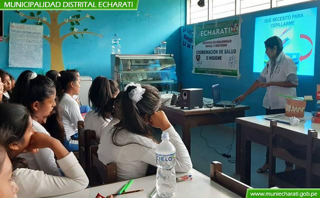 41 centros educativos de todas las zonales de Echarati fueron beneficiadas con campaña preventiva en salud bucal