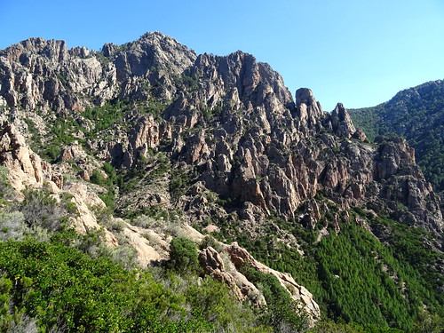 Punta di Monte Sordu depuis le col 750m