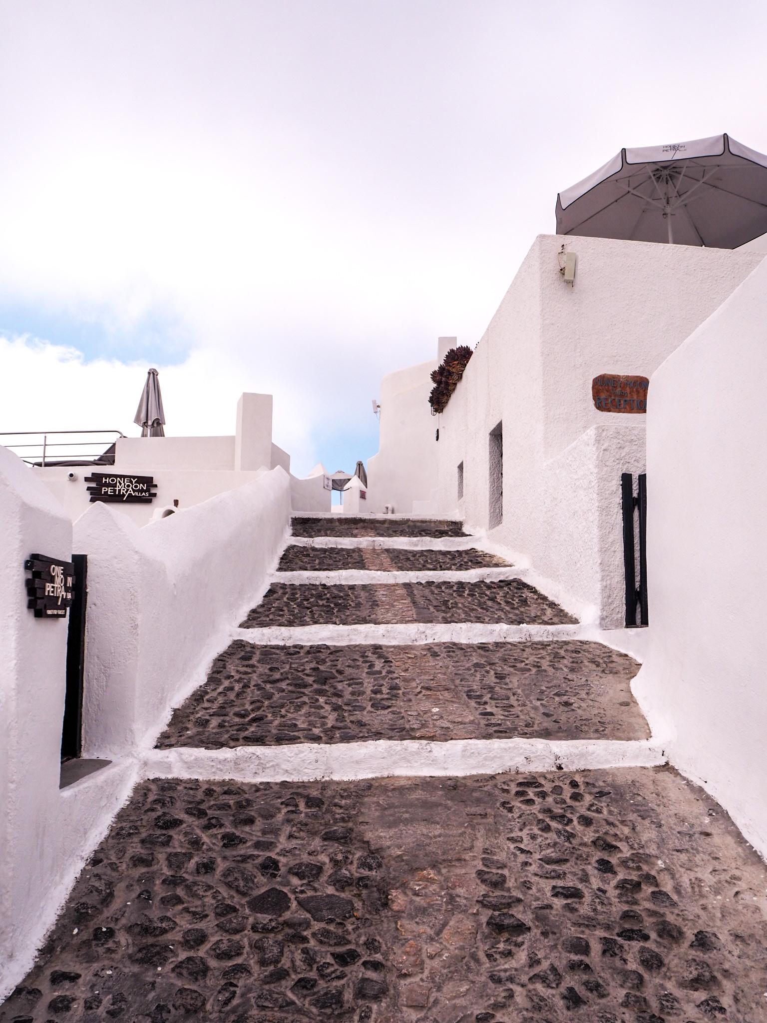 Santorini liikkuminen